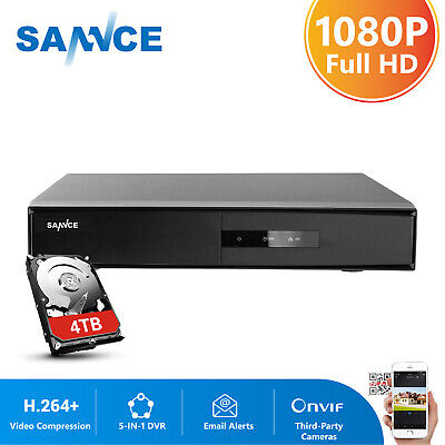 SANNCE 8CH HD 1080N 5IN1 DVR H.264 Video Record for Security Camera System 1TB
