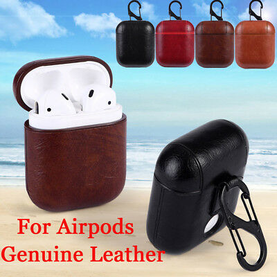 Real Leather Airpods Earphone Protective Case Skin Cover For Apple AirPod US