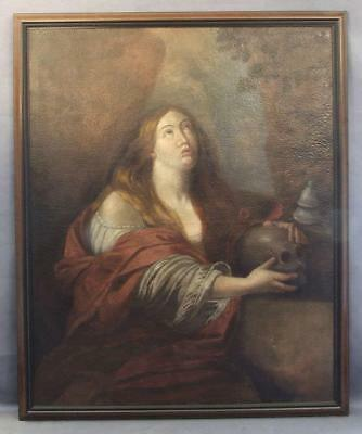 Antique 17th Century Painting Saint Mary Magdalene Attributed to Guido Reni