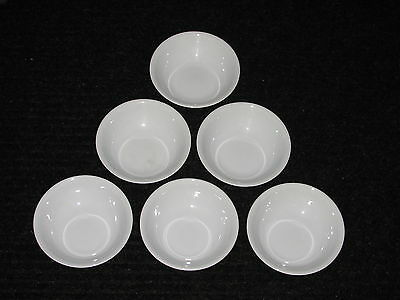 "Set Lot Six 6 Corelle WINTER FROST WHITE 5 3/8"" Fruit Dessert Bowls Add to set!"