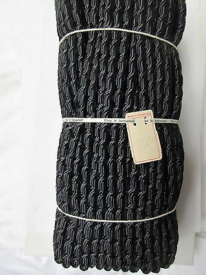 6 yds Antique Vintage Millinery Black Tubular Swiss Horsehair Unused 5/16""