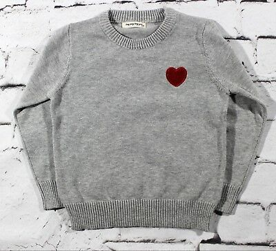 Baby Boys Sweater with Embroidered Heart 12M-5T ( Gray)