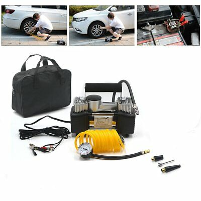 Heavy Duty Double Cylinder Car Van Ball Air Compressor 150PSI Tyre Inflator Pump