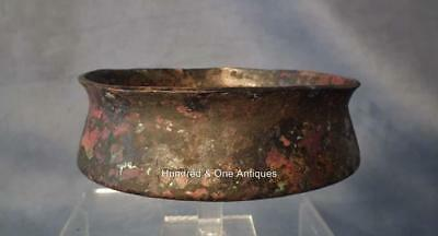 Ancient Greek Bronze Bowl with Traces of Gold Gilding 5th century BC