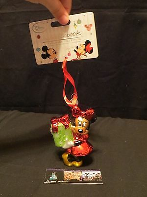 Disney Store Authentic USA Sketchbook Christmas ornament 2014 Minnie Mouse