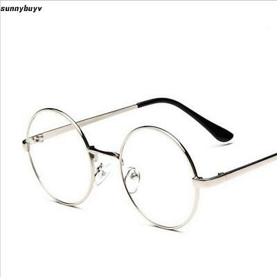 342edf0995 Women Men Metal Round Full Rim Glasses Frame Clear Lens Eyeglasses RR3