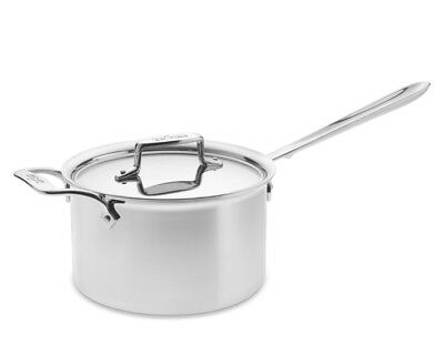 All-Clad D55204 D5 Non-Stick Polished Stainless Steel 5-Ply 4-qt sauce Pan w/Lid
