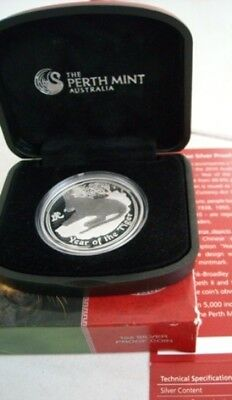 Perth Mint 2010 Australian Series II 2 Year Lunar TIGER 1oz Silver Proof Coin