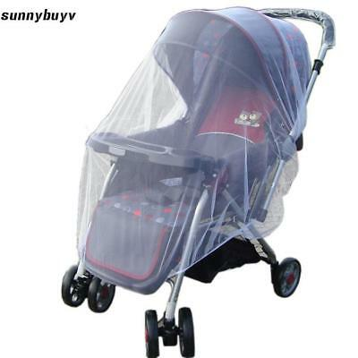 New Infants Baby Stroller Pushchair Mosquito Insect Net Safe Mesh White RR3 01