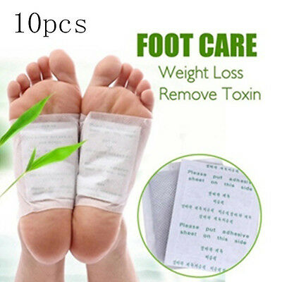 10X Detox Foot Pads Patches Body Toxins Feet Slimming Cleansing Herbal Adhesive