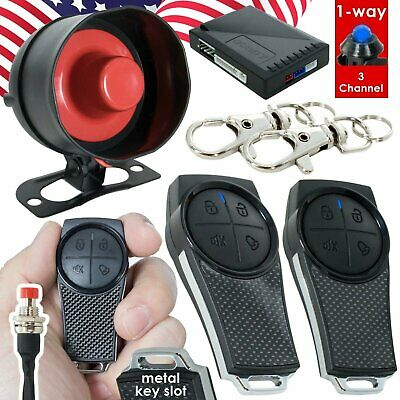 Gravity GSX 1 Way 3 Channel Keyless Entry Car Alarm Security System w/ 2 Remotes