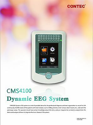 CE CONTEC CMS4100 Dynamic EEG Mapping System 16 channel 24hrs recording Analysis