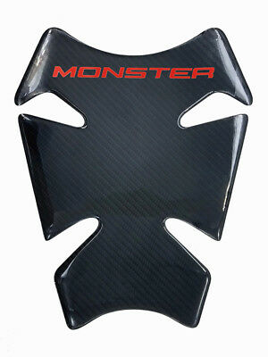 """8.7"""" Red Real Carbon Fiber Fuel Gas Tank Protector Pad For Ducati Monster 696"""