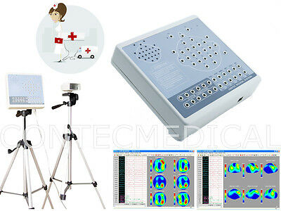 CE CONTEC KT88-2400 Digital 24-channel EEG Machine And Mapping System, 2 Tripods