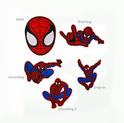 Spiderman Iron on patch Sew on Embroidered applique crafts DIY Customise