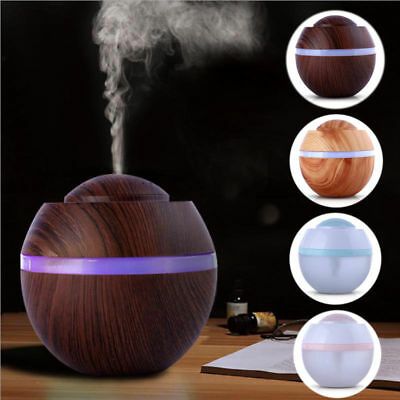LED Ultraschall Luftbefeuchter 500ML Aroma Diffuser Aromatherapie Duftlampe DHL