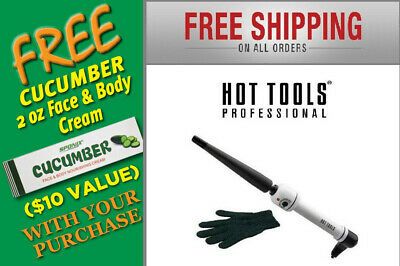 HOT TOOLS 1/2- 1 inch Nano Ceramic Tapered Hair Curling Iron
