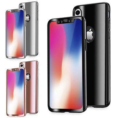 NALIA 360 Grad Handy Hülle für Apple iPhone XR, Full Cover & Schutzglas Case