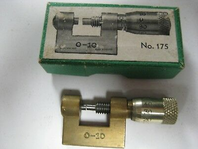 English Made , Vintage Watchmakers micrometer. in original box,