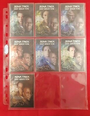 Star Trek Deep Space Nine Heroes & Villains, DVD Cover Art Set D1 to D7 1:48