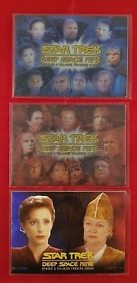 Star Trek Deep Space Nine Heroes & Villains Case Toppers CT1, CT2, Promo P2