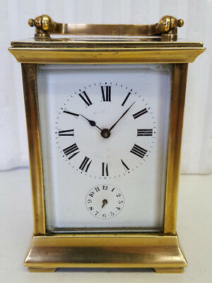 Classic Brass Carriage Alarm Clock with Jewelled Lever platform Movement