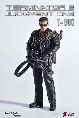 Great Twins Terminator 2 Judgement Day T-800 Arnold Schwarzenegger Figure Model