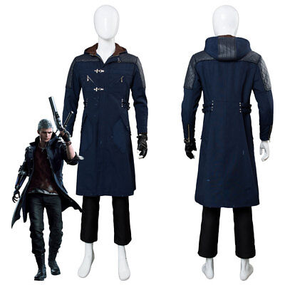 Devil May Cry V DMC5 Nero Outfit Cosplay Costume Coat Uniform Suit Jacket Glove