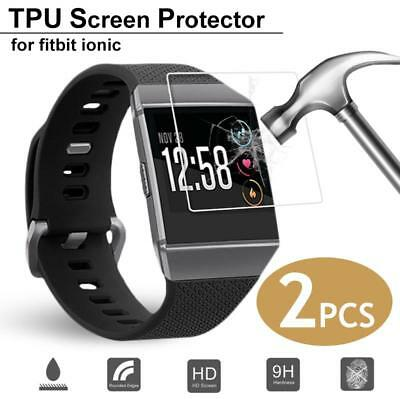 2PCS Full Cover Tempered Glass Screen Protectors For Fitbit ionic Watch