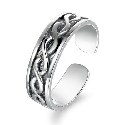 Gorgeous Solid Silver Plated Knot Promise Band Rings For Women IT