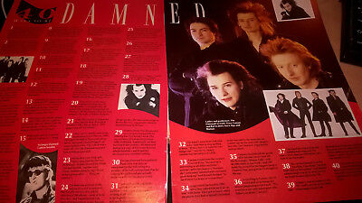 THE DAMNED - '40 Ways To Be Damned' - from 'No.1' 1986 article newsclipping
