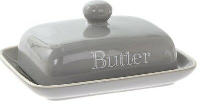 Lesser & Pavey Bell Top Butter Dish Grey Classic Large Ceramic Butter Dish