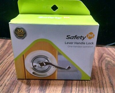 Safety 1st French Door Lever Handle Baby Proof Child Lock - One Hand Operation