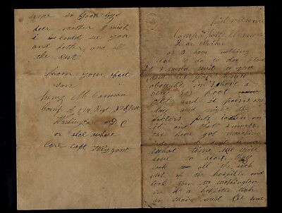 124th New York Infantry CIVIL WAR LETTER - Cuts Finger Off to Avoid the Draft !