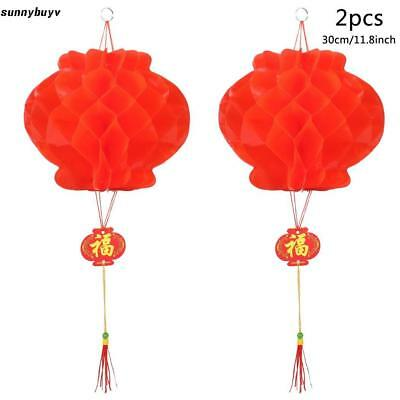 2pcs Chinese Red Lanterns For New Year Chinese Spring Festival Wedding RR3