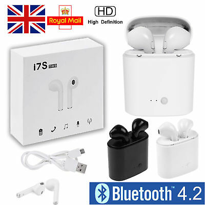 i7S Twin Wireless Stereo Bluetooth Earphone For iPhones, Samsung & Smart Phones