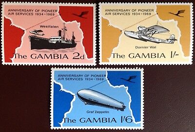 Gambia 1969 Air Services Anniversary MNH
