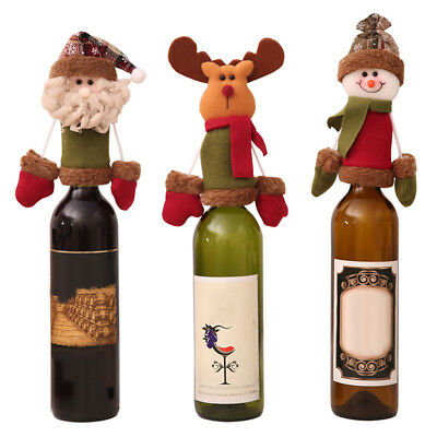 Christmas Wine Bottle Cover Clothes Decoration Snowman Deer Lovely Fashionable