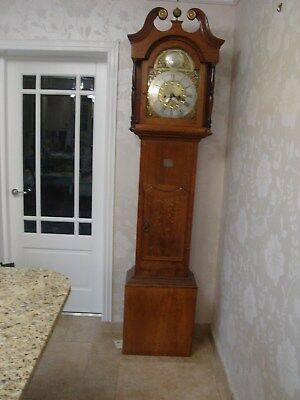 John Rigg of Guisborough Antique Oak longcase grandfather clock
