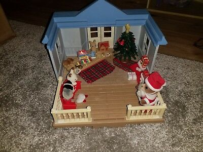 Sylvanian Families Summer House Santas Grotto with figures accessories christmas