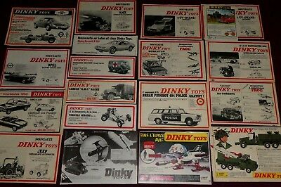 Dinky Toys Gros Lot 19 Publicites 60' Ufo Interceptor 404 Police Space Cruiser