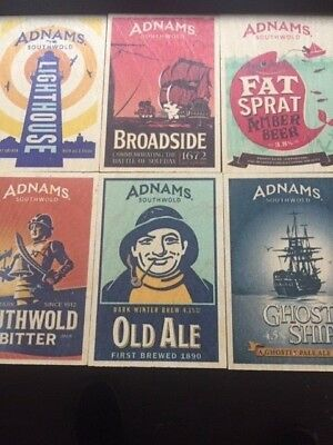 Adnams Brewery - Set of 6 wooden postcards