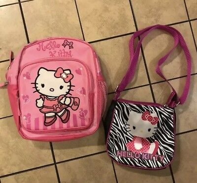 Hello Kitty Girls Mini Backpack And Purse
