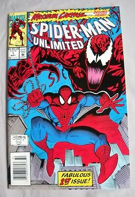 Spider-Man Unlimited #1 (May 1993, Marvel)  Carnage, Ron Lim  Unread!!