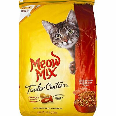 Meow Mix Tender Centers Dry Cat Food, Salmon & Chicken (15.5lbs) Fresh