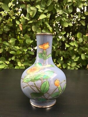 A Rare And Unusual blue Japanese Cloisonné Vase ,singed early 20th c