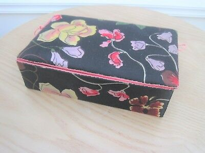 Antique 1920s Silk Covered Box