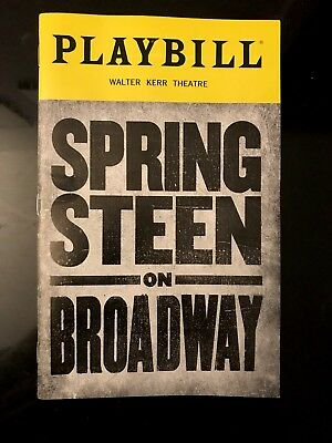 Bruce Springsteen On Broadway Playbill Mint Condition