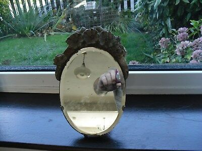 Antique / Vintage Wooden Dressing Table Mirror, Bevelled Edge, Plaster Surround