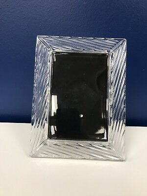 """Marquis Waterford Picture Frame Crystal 7 X 9"""" Holds 5x7"""" Photo"""